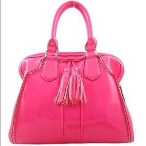 Dalia neon hot pink Melie Bianco Bag with tassels